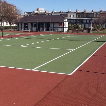 Spencer Square Tennis and Pickle Ball Courts with Coffee Hut