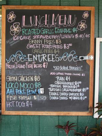 Heeia General Store & Deli: Lunch menu board