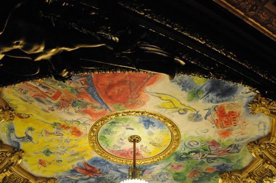 Paris, France : O teto da autoria de Chagal