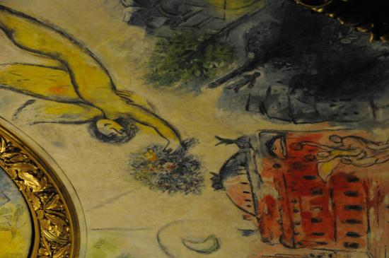 París, Francia: Pormenor do teto de Chagall