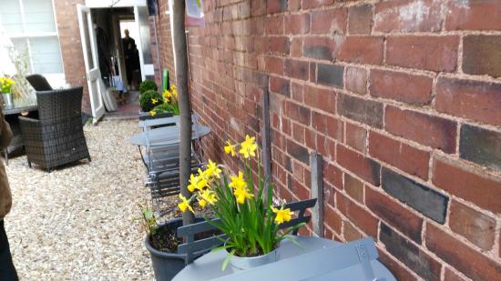 Budleigh Salterton, UK: View from outdoor area through to restauranf