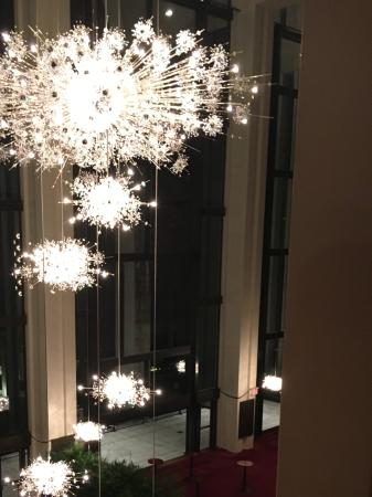 Chandeliers and dining level picture of the metropolitan opera the metropolitan opera chandeliers and dining level aloadofball Gallery