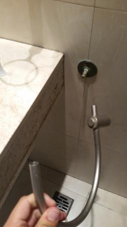 towel hook fell off the wall after placing a hand towel on it rh tripadvisor com