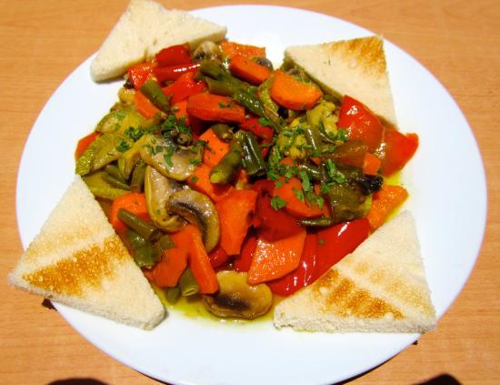 Bar/Cafe El Populacho : Verduras Salteadas!!