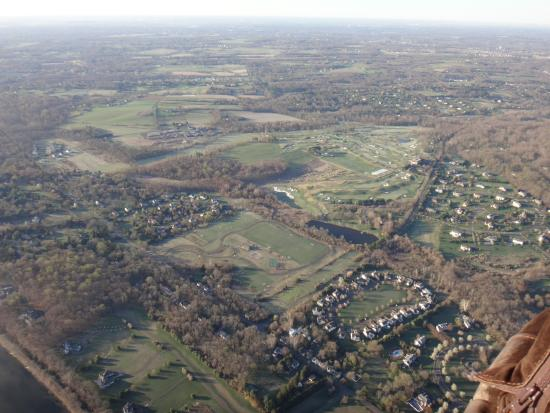 Holicong, เพนซิลเวเนีย: view of Bucks Co, PA from US Hot Air Balloon