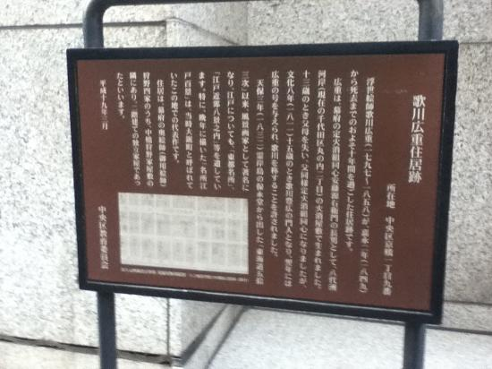 Remains of Hiroshige Utagawa Residence