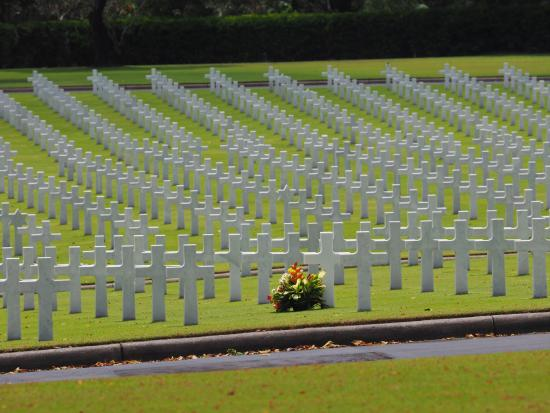 Manila American Cemetery and Memorial: Part of 17,00+ tombstones