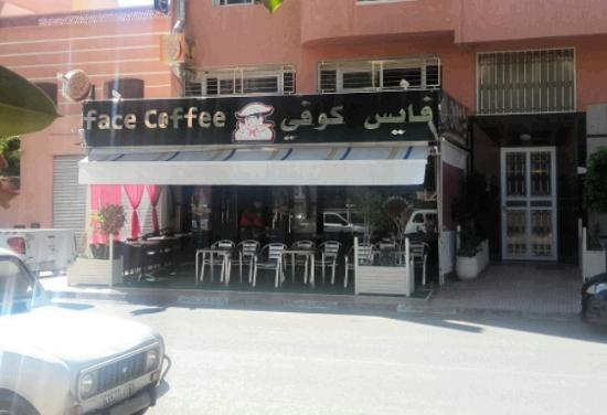 """Beni Mellal, Μαρόκο: """"face coffee"""" un drôle de nom."""