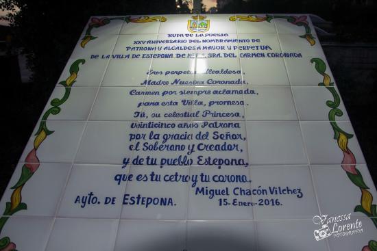 Poesía XXV Aniversario de Patrona de Ntra. Sra. del Carmen Coronada
