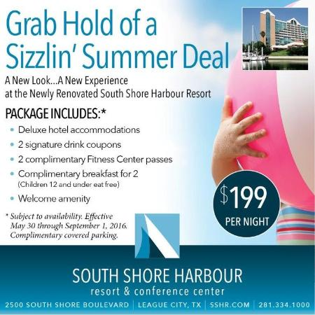 South Shore Harbour Resort and Conference Center: Summer Sizzlin