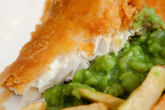 Fish Chips and Peas from Fridays Chippy in Cottingham.