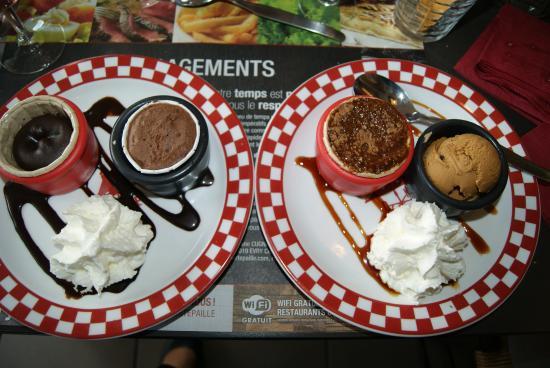 Nonant, Francia: duo chocolat ou café pour le dessert