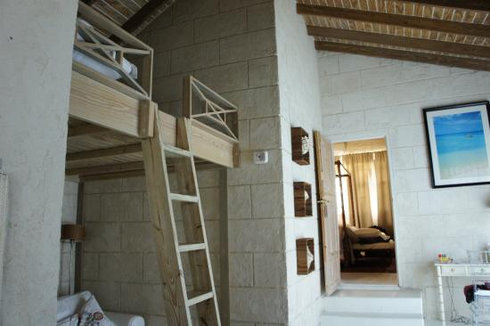 Saint Michael Parish, Barbados: Our suite with bunk beds and master bedroom, huge open space was once a carriage house.