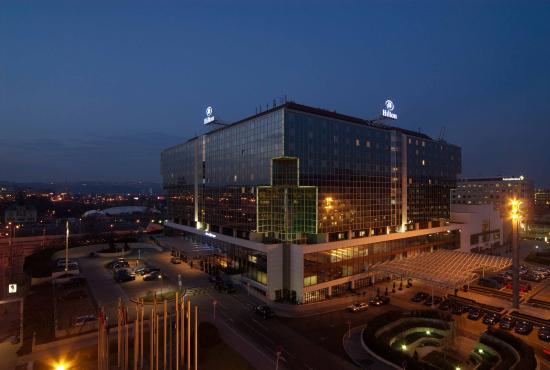 Hilton Prague Exterior Night