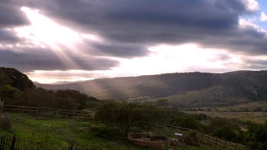 Paterson, Νότια Αφρική: Aussicht mit Sonnenuntergang