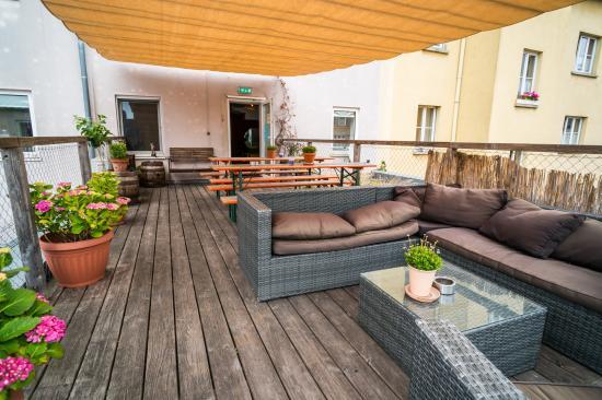 Babelfish Hostel: Rooftop terrace