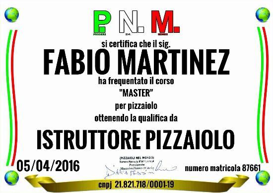 Olmedo, Włochy: Corsi certificati per pizzaiolo