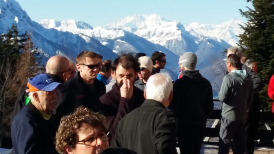 Albergo Cardada : vista panoramica sul monterosa
