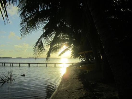 Patio, Polinesia Prancis: levé du soleil