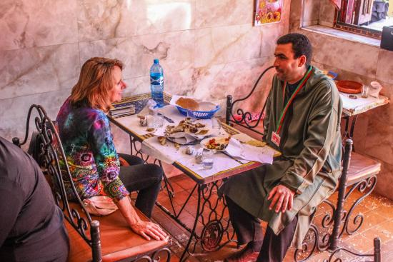 Marrakech Guided Day Tours : Restaurant of Jemaa el Fna