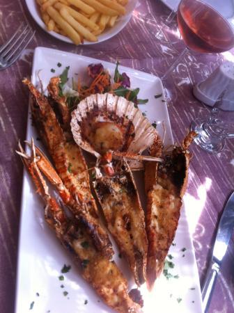 langoustines grillées et coquille St jaques