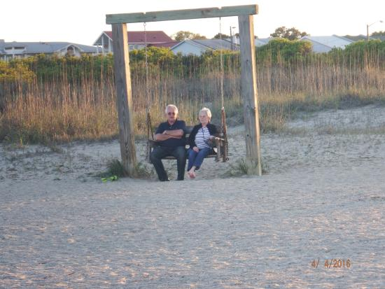elderly couple enjoying the beach and swing picture of tybee rh tripadvisor com au