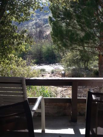 Sequoia Lodge: Our view from the outside sitting area...beautiful!