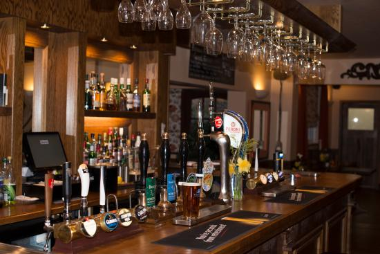 Herefordshire, UK: The bar in The Monk