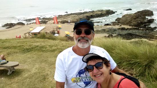 Costa rochosa da praia de La Pedrera