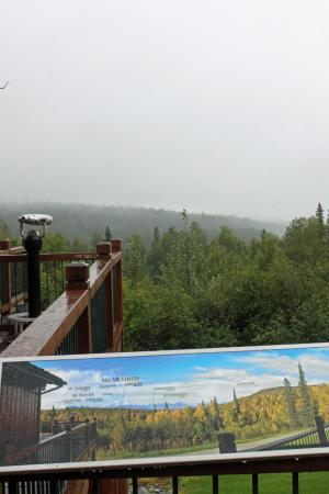 Trapper Creek, AK: Where the view should be ;)
