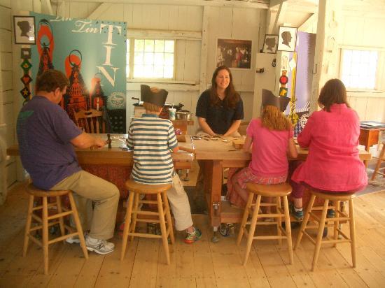 Old Sturbridge Village: Making tin ornaments
