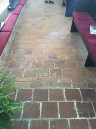 St. Thomas Episcopal Church: Loved the brick floors