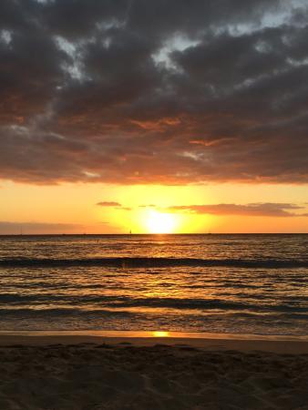 Sans Souci Beach Park: san souci sunset