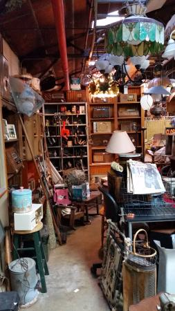Angela's Attic: Booths with some clutter.