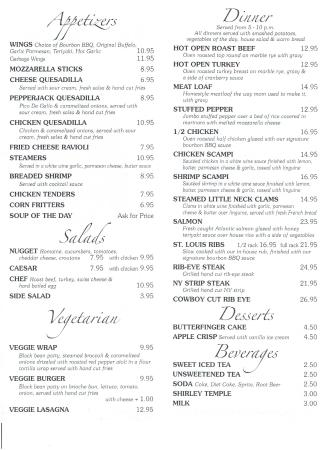 Monticello, NY: New Menu part 2