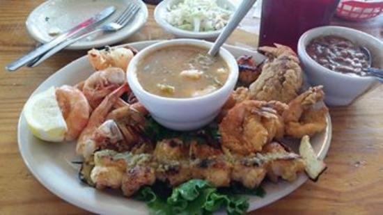 Crystal Beach, เท็กซัส: Shrimp Platter