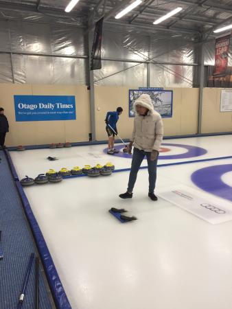Indoor Curling Rink: On the ice