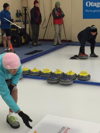 Indoor Curling Rink: The 'stones'