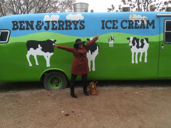 Waterbury, VT: In front of the truck!
