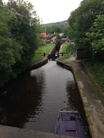 Marsden, UK: The canal near Riverhead