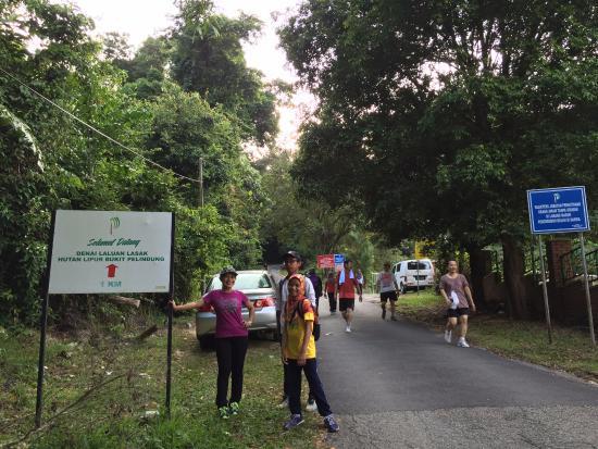 Kuantan, Malaysia: Signboard at the main track up to the Bukit Pelindung