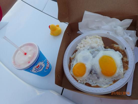 Loco Moco And A Slushie Float Picture Of Rainbow Drive In Honolulu Tripadvisor