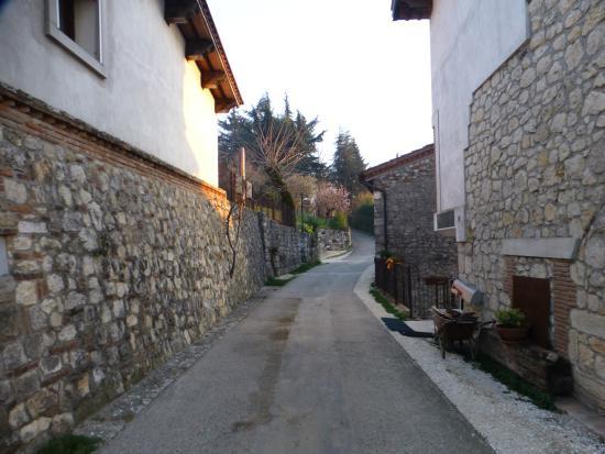 Tenuta Maraveja: The road going past the BnB