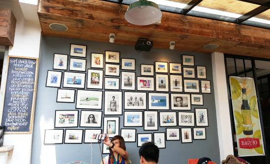surf shack wall of frames lol