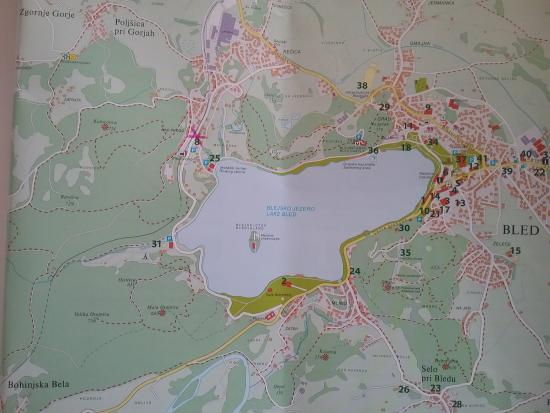 Map Of Lake Bled X Marks The Hotel Picture Of Hotel Triglav Bled - Marks lake maps