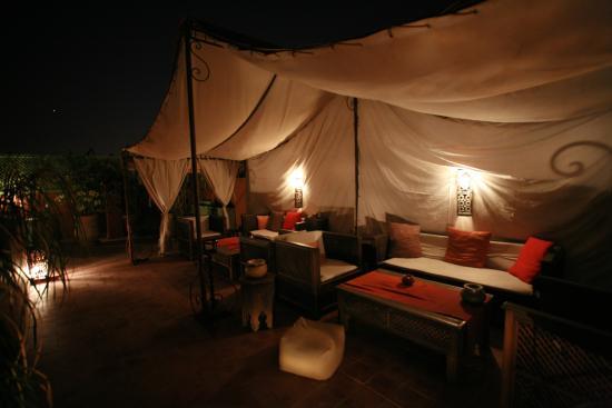 Riad Mariana: Terrasse de nuit