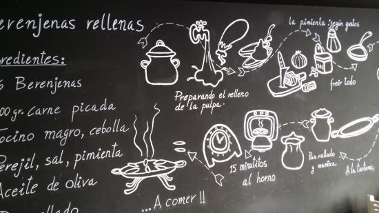 entrecaas pizarra en la pared con recetas - Pared Pizarra