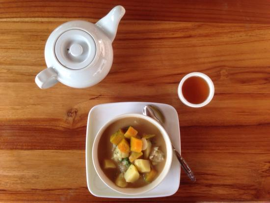 Muang Ngoi Neua, Laos: I strongly recommend the 'suzy'-stew with vegetables, coconut milk and dill. A pot of green tea