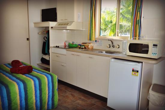 Standard Studio Cabin: Clean, tidy but a little dated.