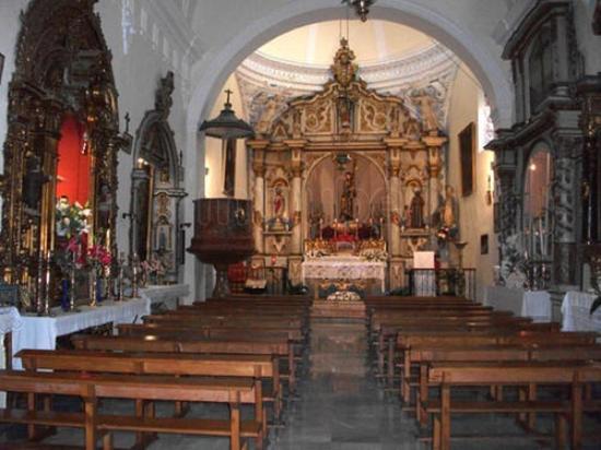 Archidona, Spanyol: interior de la iglesia de Jesús Nazareno